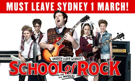 School of Rock The Musical: Tickets , 1 February 1 March, Capitol Theatre, Sydney
