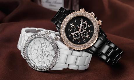 1 o 2 relojes Timothy Stone Amber Ceramic adornado con 130 cristales de Swarovski (envío gratuito)