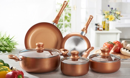 EightPiece Copper Pan Set With Free Delivery