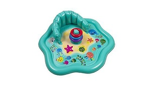Baby Splash Mat with Stacking Rings