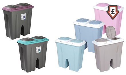 One or Two Double 25l Recycling Waste Bins
