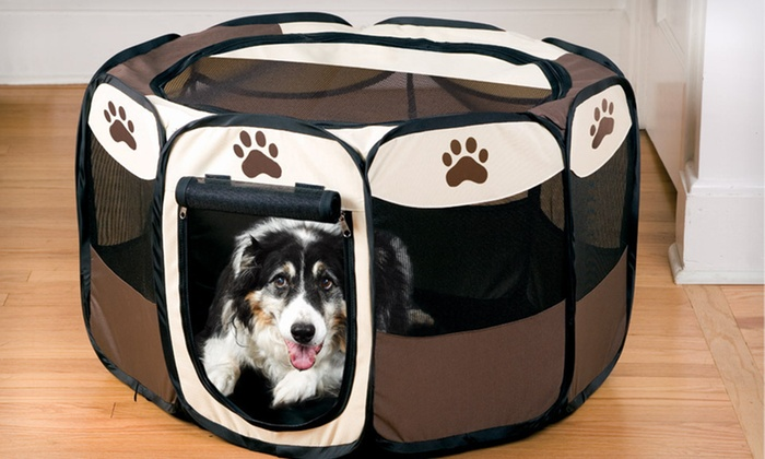 Large Portable Pet Playpen: $29 for a Large Portable Pet Playpen ($99.99 List Price). Free Shipping and Free Returns.