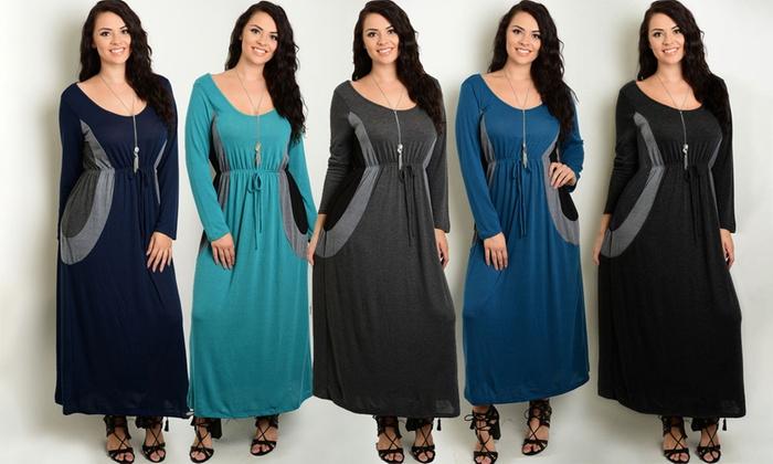 Womens Plus Size Knit Maxi Dresses Groupon