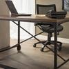 Baxton Studio Greyson Vintage Industrial Wood and Bronze Desk