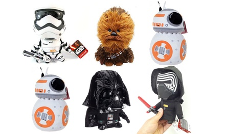 $39 for a 6 Pack of Licensed Star Wars 20 - 23cms Talking Plush Toys (Don't Pay $119.95)