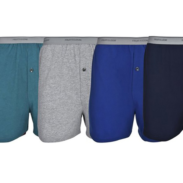 eda41cd76f12 Fruit of the Loom Men's Colorful Soft Knit Boxers (5-Pack) | Groupon