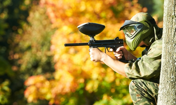 Big Dog Adventure Park - Big Dog Adventure Park: Paintball Package Two or Four at Big Dog Adventure Park (Up to 50% Off)