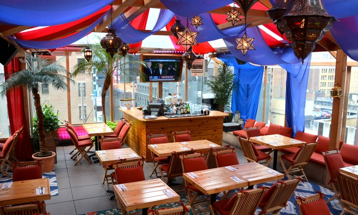 Haven Rooftop - Theater District - Times Square: Moroccan-Inspired Dinner for Two or Four at Haven Oasis (32% Off)