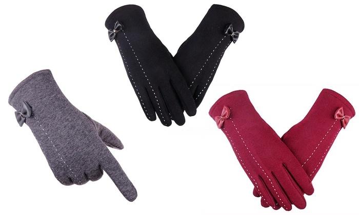 touchscreen handschuhe f r damen groupon goods. Black Bedroom Furniture Sets. Home Design Ideas