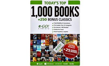 e-GO! Library 1,000 Books Preloaded USB Flash Drive