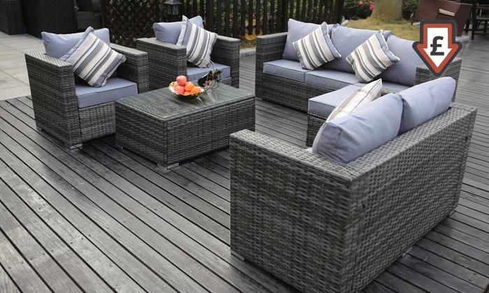 Vancouver Rattan Effect Sofa Sets Groupon Goods