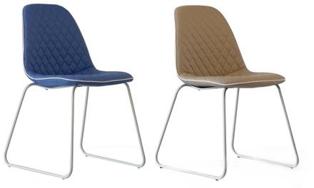 Set di 4 sedie Point in similpelle