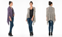 GROUPON: 3/4-Sleeve Draped Marl Cardigan from Sociology  3/4-Sleeve Draped Marl Cardigan from Sociology