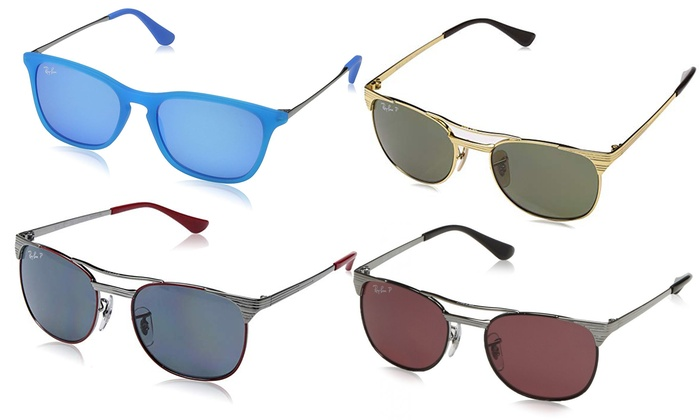 0899833e88 Ray-Ban Kids' Junior Polarized Sunglasses | Groupon