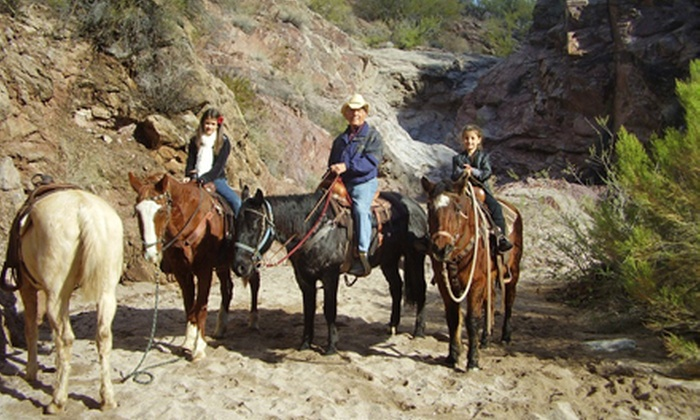 Cowboy Way Adventures - Multiple Locations: Horseback Trail Ride for Two in Wickenburg or Sedona from Cowboy Way Adventures (Up to 55% Off). Four Options Available.
