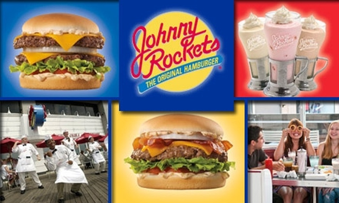 Johnny Rocket's - Atlanta: $10 for $20 Worth of Burgers, Fries, and Shakes at Johnny Rockets. Buy Here for Buckhead Location. Other Locations Below.