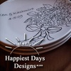 Hull's Happiest Days Designs: $40 for $80 Worth of Personalized Dessertware from Hull's Happiest Days Designs