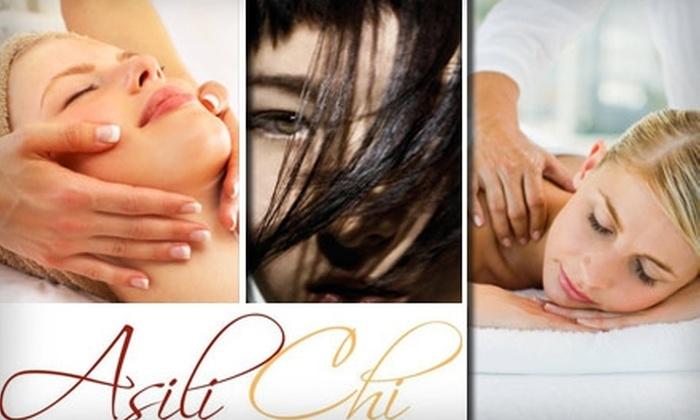Asili Chi Salon & Spa - West Loop: $65 Massage, Shampoo, Blow-Dry, and Facial Spa Package at Asili Chi Salon & Spa
