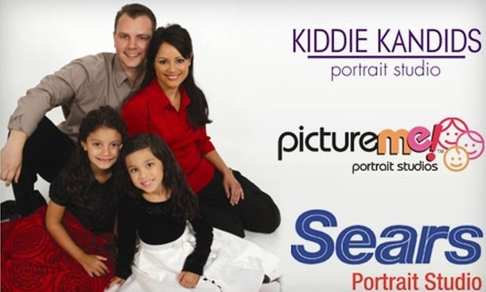 Sears Portrait Studio, Kiddie Kandids Studio and Picture Me Portraits - Salt Lake City: $10 for $25 Toward Products and Services at Sears Portrait Studio, Kiddie Kandids Studio, or Picture Me Portrait Studios.