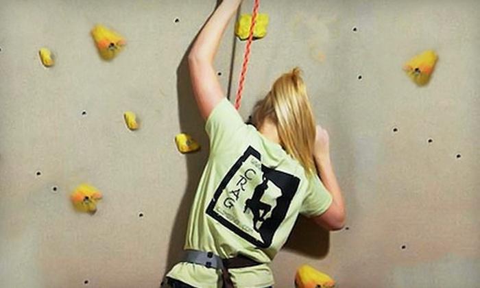 The Crag Indoor Rock Climbing - Brownsburg: Three Indoor Rock-Climbing Sessions for Kids or Adults at Crag Indoor Rock Climbing in Brownsburg (58% Off)