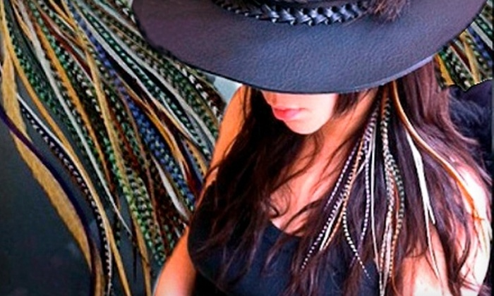 Streets of London Salon - DePaul: $12 for Three Feather Hair Extensions at Streets of London Salon ($25 Value)