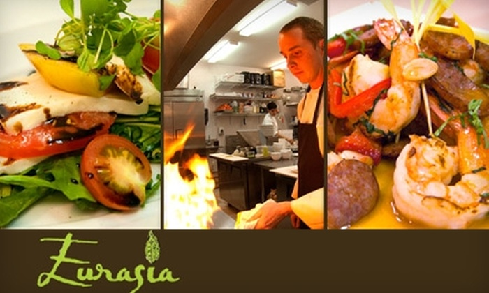 Eurasia Cafe & Wine Bar - Tuckahoe: $25 for $50 Worth of Fusion Fare and Fine Wine at Eurasia Cafe & Wine Bar
