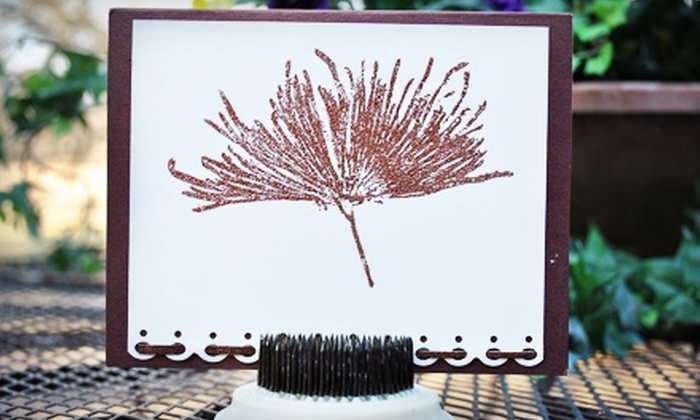 Stamp Asylum - Dallas: $12 for a Card-Making Class at Stamp Asylum in Plano ($25 Value)
