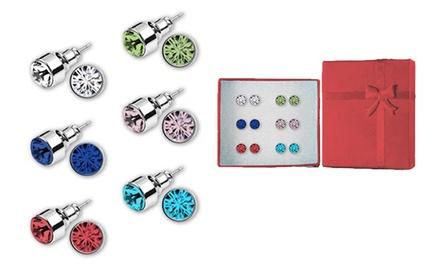 Pack de 6 pendientes de colores por 6,99 € (90% de descuento)