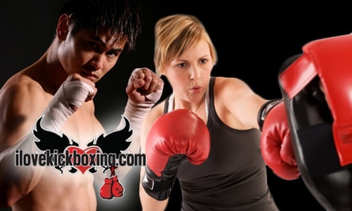 iLoveKickboxing.com - Multiple Locations: $30 for Four Kickboxing Classes, One Personal Training Session, and a Free Pair of Boxing Gloves from iLoveKickboxing.com ($105 Value)