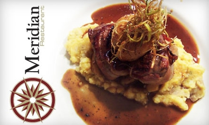 Meridian Restaurant - South Marshall: $30 for $60 Worth of Fresh and Organic Fine Dining at Meridian Restaurant