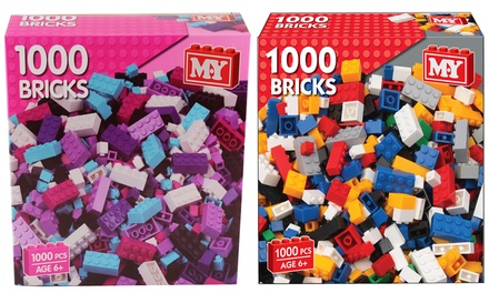 One £9.98 or Two £18.98 1000Piece Toy Building Brick Sets