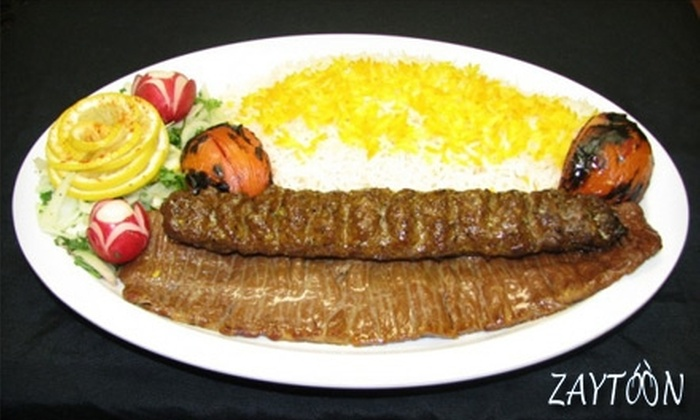 Zaytoon Restaurant - Spring Valley: $10 for $20 Worth of Persian Cuisine at Zaytoon Restaurant