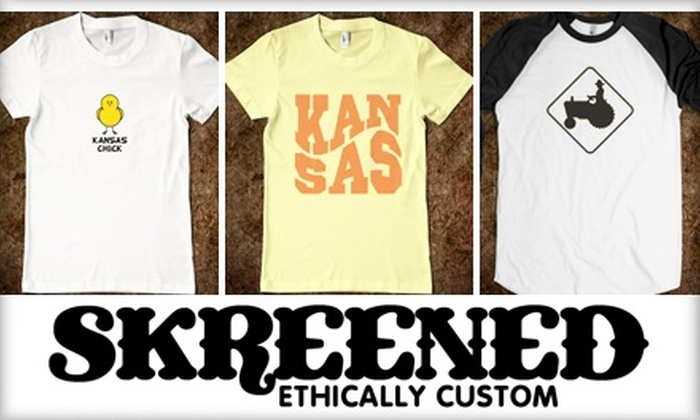 Skreened: $15 for $30 Worth of Online, Custom-Designed Clothing from Skreened