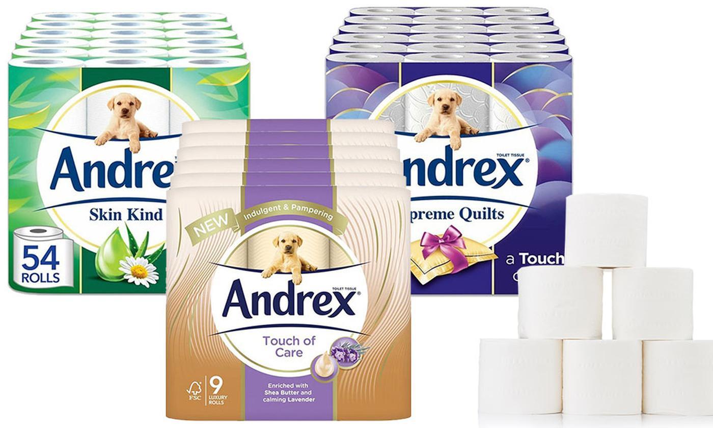 54 Rolls of Andrex Toilet Paper