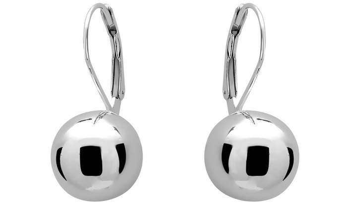 35a1463453340 Up To 74% Off on Ball Drop Leverback Earrings   Groupon Goods