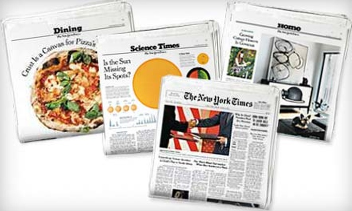 """The New York Times"" - Charleston: $48 for a 16-Week Subscription to the Sunday Edition of ""The New York Times"" Plus Free All Digital Access (Up to $120 Value)"