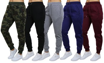 Women's Galaxy by Harvic Loose-Fit Fleece Joggers (S-2XL)