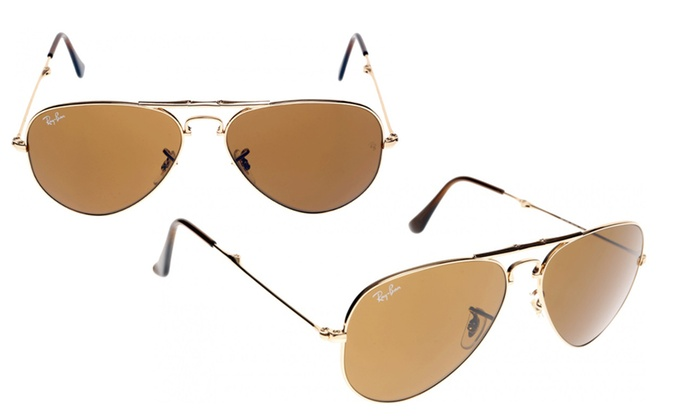 6729be5ddaa Ray Ban Aviator Sunglasses RB3479 001 51 RB3479 001 51 Gold 58MM Brown UV  Yes Gold 58MM Brown Metal RB3479 001 51