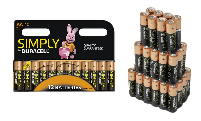 Duracell Simply AA or AAA Batteries from £4.99