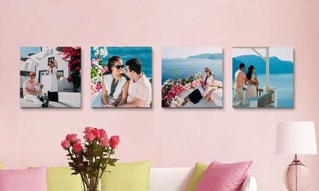 Fotolienzo cuadrado personalizado de hasta 60 x 60 centímetros desde 1 € en Printer Pix