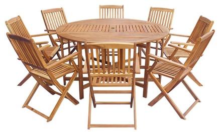 Ensemble de salle à manger en bois dagacia