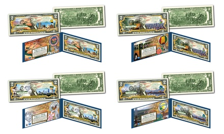 Groupon Exclusive: 50 States Colorized $2 Bills