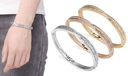 6928a8c3f41d8 One, Two or Three Philip Jones Crossover Bangles with Crystals from ...