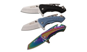 MTech USA Assisted Opening Stainless Steel Multi-Function Knife