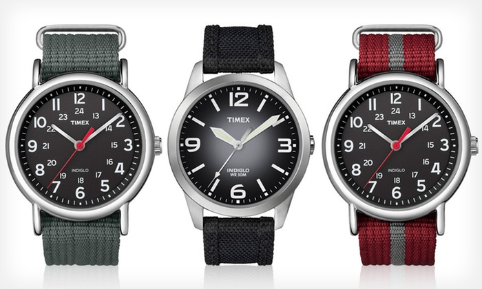 Men's Timex Weekender Watches: Men's Timex Weekender Watches (Up to 57% Off). Seven Styles Available. Free Shipping and Free Returns.