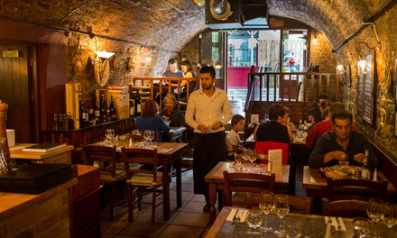 Starter and Main Italian Course for Two or Four at Al Vesuvio, Temple Bar (Up to 43% Off)