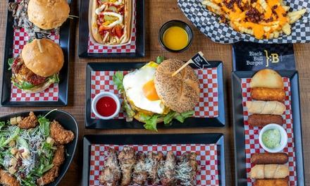 Menú para 2 o 4 personas con entrante, principal, postre y bebida en Black Bull Burger (hasta 52% de descuento)