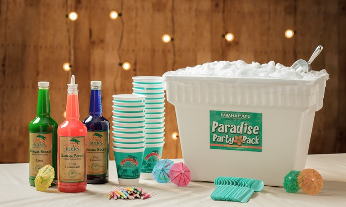 Bahama Bucks Universal City - Judson: Party Pack or Three Groupons for Shaved Ice at Bahama Bucks Universal City (40% Off)