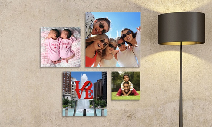 """Picture it on Canvas: 8""""x8"""", 12""""x12"""", 16""""x16"""", or 20""""x20"""" Metal-Printed Photo from Picture It On Canvas (Up to 83% Off)"""