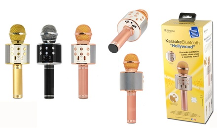 Microfono per karaoke Hollywood Xtreme con speaker Bluetooth integrato disponibile in 3 colori